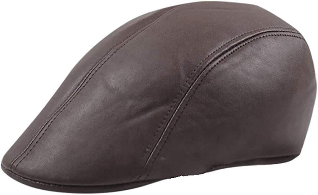 Vintage Leather Baker Boy Hat for Men Women Classic Rustic Newsboy Hat Driver Cabbie Cap Sunlucky AW2019