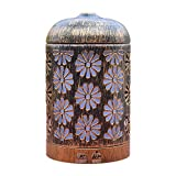 COXTOD Aroma difusor 200ml hierro forjado antiguo hueco tallado hogar aceite esencial ultrasónico en ambientador hogar