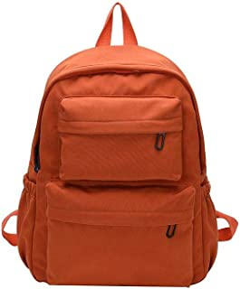 Niome School Backpack Unisex Classic Water-Resistant Bag for College Bookbag Orange
