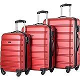 Pumpumly Juego de equipaje de 3 piezas Hardside Spinner Maleta con cerradura TSA 20' 24' 28' disponible