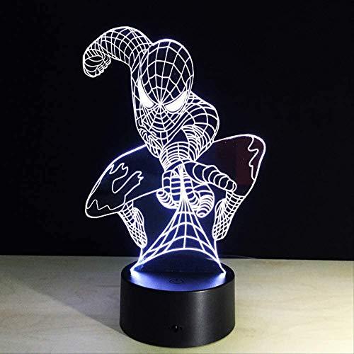 Spider Novelty 3D Led Lamp Halloween Geschenken voor Kinderen Powerbank Led USB 3D Light Fixtures Draadloze Tafellampen