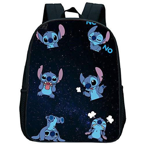 Stitch Mochilas de 12 Pulgadas Pikachu Mochilas Escolares para Niños Pequeños, Mochila en Edad Preescolar Mochila Primaria de Viaje