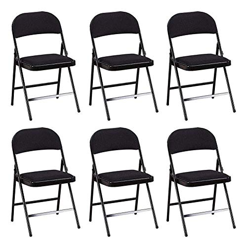 Office Folding Chair, Mesh Iron Frame Reception Chair Conference PU Upholstered Backrest Chairs Set of 6 (Color : Green)