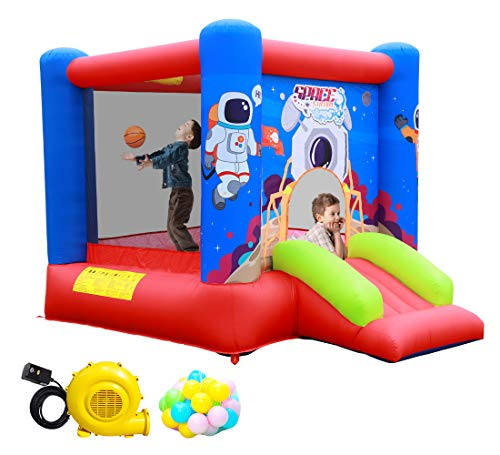 Best Review Of WELLFUNTIME Inflatable Bounce House Jumping Castle Slide with Blower, Kids Bouncer wi...