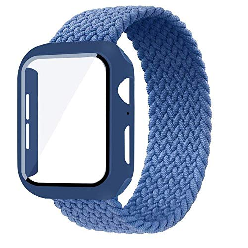 MOODER Case+Strap For Apple Watch Band 44Mm 40Mm 42Mm 38Mm Bracelet Nylon Braided Solo Loop Strap For Apple Watch Series 6 Se 5 4 3