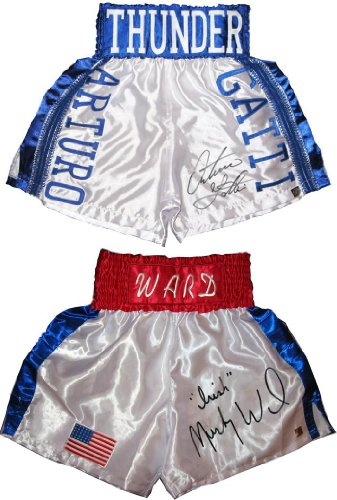 Arturo Gatti & Micky Ward Signed Trunks - Autographed Boxing Robes and Trunks