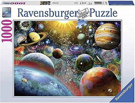 Ravensburguer-19858 0 Puzzle 1000 Piezas Vista Desde el Espacio, Multicolor (19858 0)