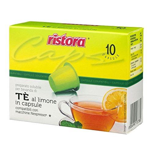 60 cápsulas TE Limone The Ristora compatibles con máquinas Nespresso (6 x 10 unidades)