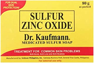 Dr. Kaufmann Medicated Sulfur (Sulfur Zinc Oxide) Soap 80gr