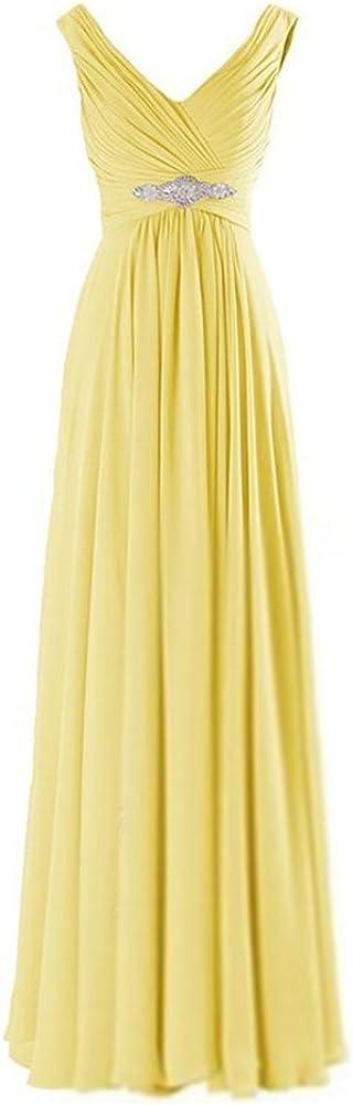 Women's V Neck Rhinestone Ruched Max 49% OFF Evening Bridesmaid Long Dress SALENEW very popular! W