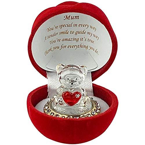 SAFRI MUM Love Heart Teddy Bear Red Rose...