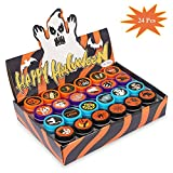 24 Pcs Assorted Halloween Stamps, Children Self-Ink Stampers For Party(24 Designs), Holiday Toy Gift Halloween Game Prizes For Kids (24 color)
