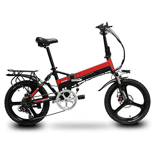 Review LJHHH Folding Electric Bike,Aluminum Alloy Frame Lithium Battery Bike Outdoors Adventure Adul...