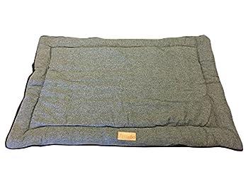 Ellie-Bo réversible en Tweed et Noir en Fausse Fourrure Tapis de lit pour XXL 121,9cm Chien Puppy Cages et caisses