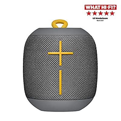 Ultimate Ears Wonderboom Portable Wireless Bluetooth Speaker, 360 ° Surround Sound, Waterproof, 2 Speaker Connection for Powerful Sound, 10h Battery, Gray from Ultimate Ears