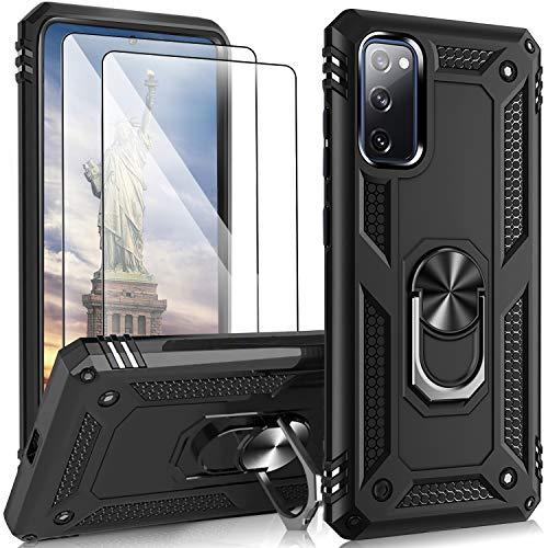Hülle Kompatibel mit Samsung Galaxy S20 FE Hülle mit 2 Panzerglas Schutzfolie, Anti-Scratch Handyhülle Galaxy S20 FE Hülle Cover Hülle, Stoßfestes Anti-Drop Schutzhülle
