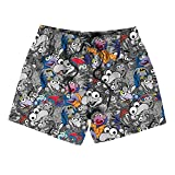 Boys' Quick Dry Beach Board Shorts Gonzo Fur a Long Crooked Nose Muppet Toys Gray Kids Swim Trunk Shorts