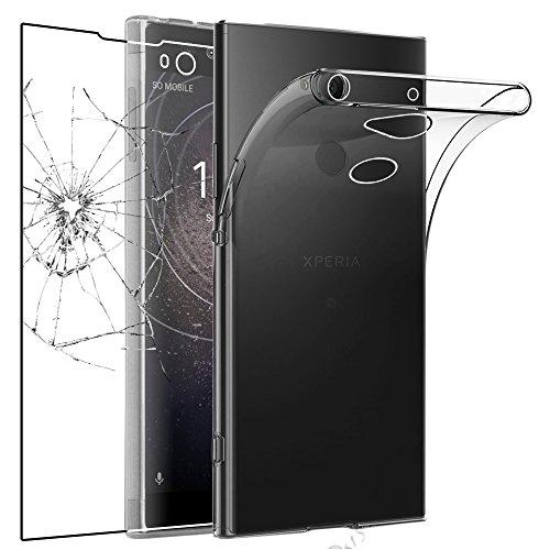 ebestStar - Funda Compatible con Sony Xperia XA2, XA2 Dual (2018) Carcasa Silicona, Protección Claro Ultra Slim, Transparente + Cristal Templado [NB: Leer descripción] [Aparato: 142x70x9.7mm, 5.2