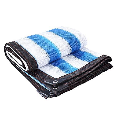 ZZHF - Toldo de sombreado a rayas, color azul y blanco 3m x