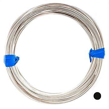 18 Gauge 925 Sterling Silver Wire Round Half Hard - 5FT from Craft Wire