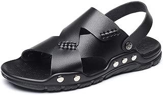 Xujw-shoes, Mens Outdoor Fisherman Sandals Summer Beach Sport Slipper for Men Fashion Shoes Antislip Rivet Reinforcement Open Toe Stitch Microfiber Leather