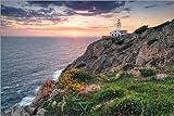 Lienzo 60 x 40 cm: Lighthouse Faro de Capdepera (Cala Ratjada / Mallorca) de Dirk Wiemer - cuadro terminado, cuadro sobre bastidor, lámina terminada sobre lienzo auténtico, impresión en lienzo