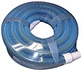 FibroPRO Professional Swimming Pool Vacuum Hose Spiral Wound 1 1/2' Diameter with Swivel Cuff (1 1/2' x 40 feet)