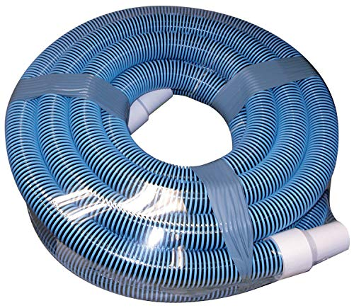 FibroPRO Professional Swimming Pool Vacuum Hose Spiral Wound 1 1/2' Diameter with Swivel Cuff (1 1/2' x 40 feet)