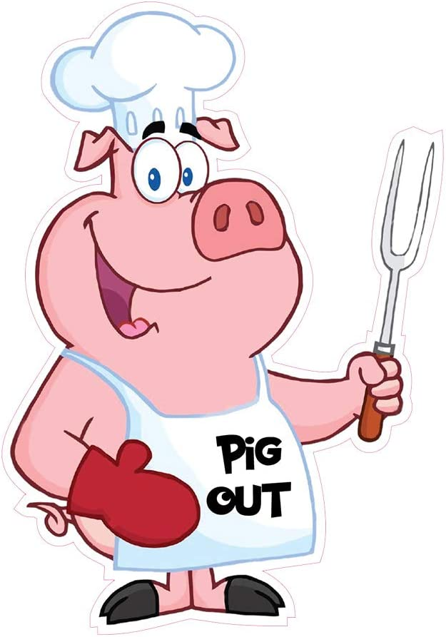 Food Truck Decals Pig Out Vinyl Choice Concession Die-Cut Tampa Mall Restaurant St