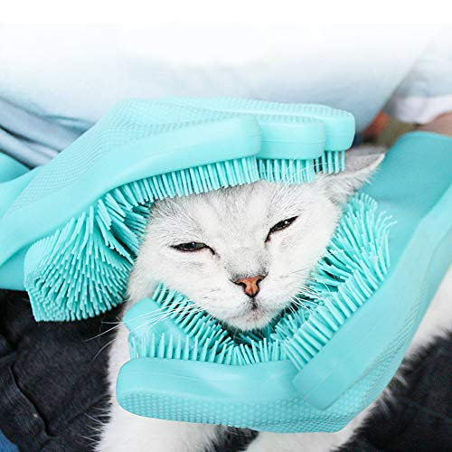 Absir Pet Bathing Bruch Grooming Gloves Heat Resistant Silicone Hair Removal Tools for Cats Dogs