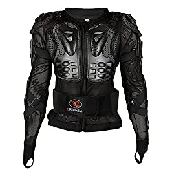 Motorcycle Full Body Armor Protective Jacket ATV Guard Shirt Gear Jacket Armor Pro Street Motocross Protector with Back Protection Men Women for Off-Road Racing Dirt Bike Skiing Skating Black L