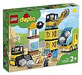 LEGO Duplo CantierediDemolizione, Set da Costruzione con Camion Giocattolo, Gru e Bulldozer, Giochi Bimbi di 2 Anni, 10932