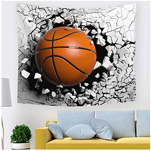 Tapiz by BD-Boombdl 3D abstracto baloncesto agujero decoración pared arte tela colgante sala de estar dormitorio decoración Yoga Mat 59.05'x78.74'Inch(150x200 Cm)