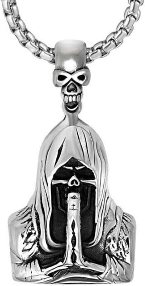 WYPAN Max 80% Max 61% OFF OFF Skull Necklace for Men Punk Faith Rock Reaper Grim Gothic