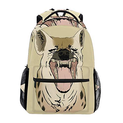 Bingyingne Mochila con estilo Hyena Animal Nature, ligera, escolar, universitaria, de viaje, mochilas de 16