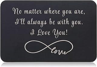 Valentine Gifts for Him Her Black Wallet Card Husband Boyfriend Anniversary Mini Love Note from Wife Girlfriend Anniversar...