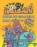 HALLOWEEN libro de colorear para niños 4-8 años: DIBUJOS BONITOS Y ATERRADORES COMO MONSTRUOS,...