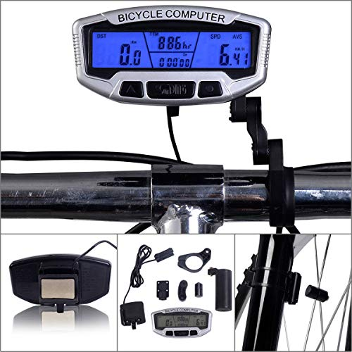 Muxan - Contachilometri Multifunzione Impermeabile per Bicicletta, contatore di velocità e contapassi per Bicicletta in Tempo Reale Speed Track e Distanza