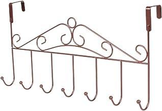 Garneck IJzeren haken over de deurhaak spijkers vrij zware haken organizer handdoekhouder (brons)