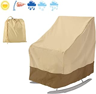 willstar Patio Rocking Chair Cover 420D Thickening Outdoor Furniture Covers Waterproof UV Resistant