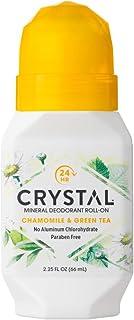 Crystal Mineral Deodorant Roll-On, Chamomile & Green Tea, 2.25 fl oz (Pack of 12)