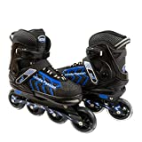 ELIITI Inline Skates for Men Women Adults Adjustable Size 7 to 11 (Blue, L (US 7 to 9))