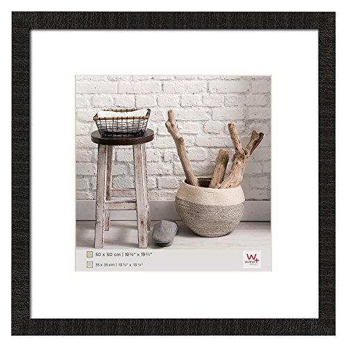 walther design HO550B Home Holzrahmen, 1 (50 x 50 cm), schwarz