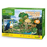 CubicFun National Geographic 3D Kids Puzzles Model Kits Toys with Booklet for Children Teens and Adults, Amazon Rain Forest kit, DS0979h
