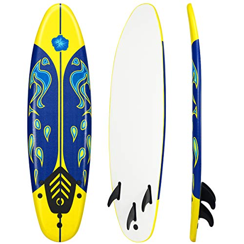 Giantex 6' Surfboard Surfing Surf Beach Ocean Body Foamie Board with...