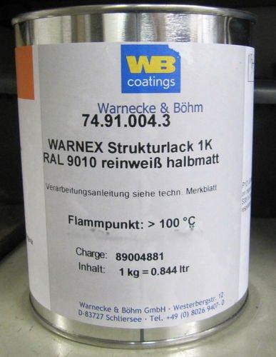 Warnex 1 KG Strukturlach WEISS 9010