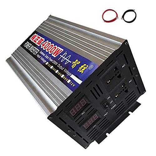 LNLN Inverter sinusoidale zuivere omvormer 4000 W/5000 W/6000 W Dc12 V/24 V/48 V A Ca 110 V/220 V Power converter booster voor auto elektronisch voor auto huishoudelijke apparaten DIY thee, 24 V-110 V-4000 W