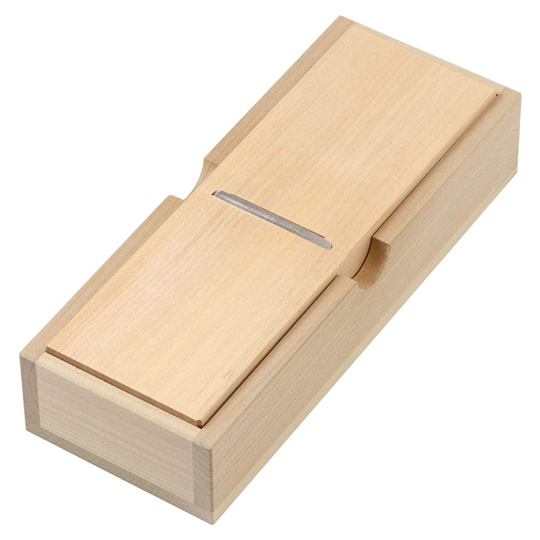吸い込む受益者好奇心薄型ミニ鰹箱フタなし鰹節削り器新潟県の工芸品?調理器具Cutter box for katsuobushi, Niigata craft