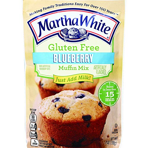 Martha White Gluten Free Blueberry Muffin Mix, 7 Ounce (Pack of 12)