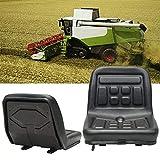 Asiento universal para tractor, PU ,color negro, resistente al agua,con 140mm Rieles Deslizantesh ,Excavadora,Cortacésped